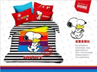 100% Cotton bedding quilts comforters - Cartoon Snoopy Cotton Bedding Sets Kids Full Queen King Size Bedclothes Duvet Quilt Cover Sheet For Children Girls Boys Bed Spreads