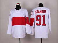 Cheap 2014 Sochi Olympic Hockey Jersey #91 Steven Stamkos White Ice Hockey Jerseys