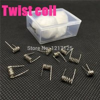 ball coils - heating Wire Resistance Double Twisted Pre Rolled Coil AWG with organic cotton ball for Rebuildable Atomizer