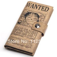 Wholesale One Piece Wallet smile Luffy animation around fashion wallet birthday gift