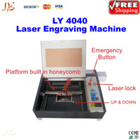 Wholesale Free ship d CO2 Laser Engraving Machine LY Laser Cutting Machine W Super functions