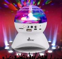 Wholesale L740 speaker Colorful LED Light MINI Bluetooth Speaker App Control Music Playing Audio D Stero Speaker LED Color Bulb Light Stage lights