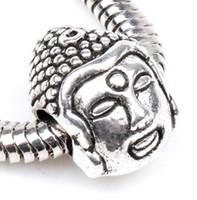 buddha beads - 10x14mm Tibetan Silver Buddha Head mm Religious Big Hole Beads Charms Fit European Pandora Bracelet