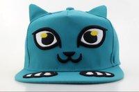 adult kitten - 2016 new style adjustable kitten caps cute cat snapback with ears women men cartoon snap back hats casual caps QH