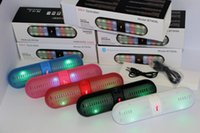 Wholesale Christmas Gifts Bluetooth Speaker BT808L Wireless colorful LED light Hands free NFC speaker TF card MIC mm