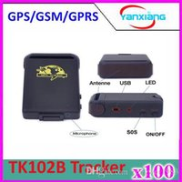 Cheap 100pcs GPRS GSM GPS car personal Tracker ,Vehicle mini GPS Tracker TK102B+Hard wired car charger,,free shipping ZY-DH-05