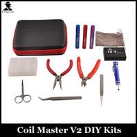 Coil Master Kit de herramientas Pinzas de cerámica Bobina jig Ohmmeter DIY Kit de herramientas para RDA RBA RTA RDTA Atomizador Rebuild Vape Mod Coil Master