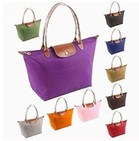 colorful handbags - Long Handle Tote Shopping Bag Nylon WaterProof Colorful Women Handbag Tote Office Bags