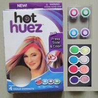 Wholesale Hot Huez colors Dye hair powdery cake Temporary Hair Chalk Powder Craze Soft Pastels Salon Party DIY Hair Colors