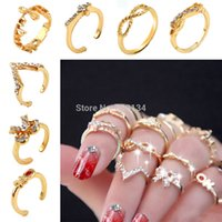 Cheap Set Rings Urban Gold stack Love Forever Best band ring