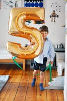 Wholesale 40inch cm gold silver foil number balloons birthday wedding party decoration helium balloons inflatable toys