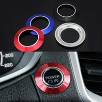 Wholesale Car ignition switch decoration key hole protector cover ring sticker for Ford EcoSport New Fiesta