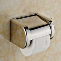 Wholesale And Retail NEW Modern Square Chrome Stainless Steel Bathroom Toilet Paper Holder Tisser Box