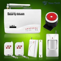 Wholesale Wireless GSM Alarm System Dual Antenna Alarm Systems Security Home Wireless Signal MHz support Russian Manual