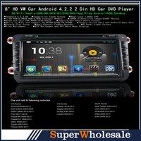 Wholesale HOT Android Auto Car DVD for VW Passat Sagita Touran Jetta Alhambra Golf Cupra GPS A9 Dual Core Inch Din
