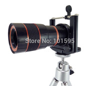 Wholesale 8x Zoom Optical Lens Mobile Phone Telescope Camera For Phone New Universal Clip Eightfold Magnifier with Holder
