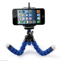 Soporte de teléfono celular de coche Soporte de trípode flexible de pulpo Soporte de montaje de mono de Selfie Accesorios para el teléfono móvil Samsung cámara libre sh