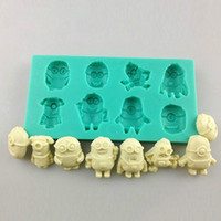 silicone molds - 3D Minions Silicone Fondant Cake Molds Decorating Supplies Chocolate Baking DIY Mould