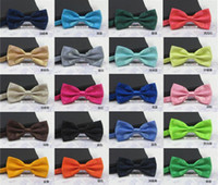 bow tie - Men s Bow Ties solid color Adjust the buckle Double storey Neck Tie colors Occupational tie for Father s Day tie Christmas Gift