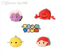 Unisex flounder fish - NEW Tsum Tsum Ariel the Little Mermaid Flounder Fish and small crab mobile screen cleaner plush toys gift