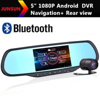 Cheap New 5 Inch HD Android Car GPS Navigation 1080P Car DVR Recorder+Rear View Camera+Bluetooth+AVIN Rearview mirror 2014 Free Map