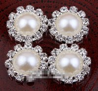 Wholesale 10 OFF MM hot sale Excellent Quality Vintage Silver Plated Alloy Crystal Rhinestone Pearl Button For Baby Girl Jewelry Accessor