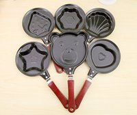 Wholesale Breakfast omelette pan device pancake Egg Fryer Skillet Mini Fry Frying Pan no lids Cookware Non Stick ss493