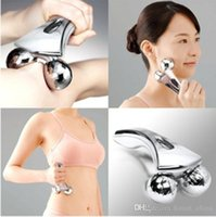 Wholesale 2015 D Facial Massage Roller High Quality microcurrent electronic Face body Lifting Wrinkle Remover Solar Energy Massager FreeDHL