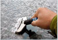 snow shovel - Snow Ice Shovel For Car Winter Delicate Cabinet Hard Plastic and Stainless Steel CM Black