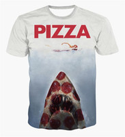 beauty pizza - FG1509 funny d printed t shirts animal shark beauty swimming t shirt men women s pizza t shirt Harajuku tshirts graphic clothing