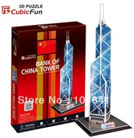 bank model papers - Bank Of China Tower CubicFun D educational puzzle Paper amp EPS Model Papercraft Home Adornment for christmas gift