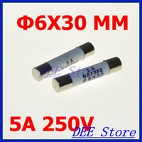 Wholesale mm x mm Ceramic Fuse Tubes V A Fast Blow