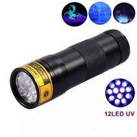 Cheap 12 LED UV Ultra Violet Lamp Torch Flashlight for Anti-fake uv Flashlight