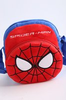 Wholesale New arrival captain America superman spiderman batman Children s cartoon plush inclined shoulder bag one shoulder bag