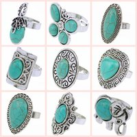 Cheap Retro ring Best Turquoise ring