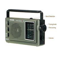 TECSUN GREEN-168 FM / MW / SW Dynamo à manivelle d'urgence récepteur radio Y4123G