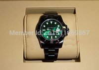 """Cheap Top quality Luxury """"Hulk"""" Green Dial Black PVD DLC 40mm Extremely Rare 116610 Mens Men's Watch Watches"""
