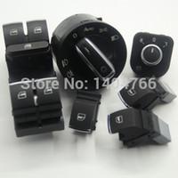 Wholesale mirror switch headlight switch window switch for Volkswagen VW jetta mk5 golf tiguan passat b6 CC SET