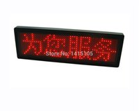 Wholesale super light LED Screen Display Board Module Red led Name Badge Sign Business Card Show Display Tag