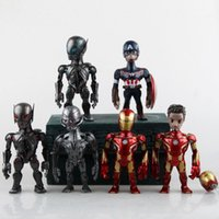 america artist - Artist Mix Marvel Avengers Age of Ultron Iron Man Captain America Ultron Sentinel PVC Action Figure Toys CM KT001