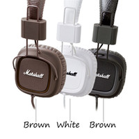 Wholesale Original Marshall Major Headphones Noise Cancelling Headset Deep Bass Studio Monitor Headphone DJ Hi Fi headphones headset with mic