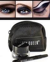 eye bag cream - set PartyQueen BRAND eyeliner Black Gel Eyeliner Makeup gel eye liner Cosmetic Brush bag M01318