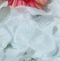 wedding supplies - MIC Hot sell White Silk Rose Petals Wedding Supplies Flowers Favors Decoration Flowers Petals Garlands