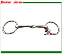 Wholesale nickle plated ring snaffle horse bit solid jointed mouth horse product BT0502NP