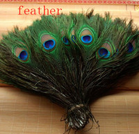 Wholesale Feathers peacock feathers Pack Beautiful Natural Peacock Tail Feathers About inch