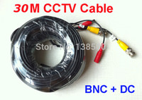 Wholesale Packed FT BNC Power Video CCTV Security Cable for DVR Camera System M New