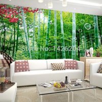 bamboo print wallpaper - any size D Bamboo forest photo large wallpaper mural d wall covering paper for living room