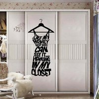 american living dresses - Best sales love my money dressing room wall stickers shop window stickers decorative glass door stickers decorations props removable