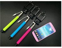 Wholesale Audio cable wired Selfie Stick Extendable Handheld Monopod plug and play Cable Take Pole Wired for iPhone Samsung