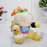 baby bowser plush - New Super Mario Bros quot Bowser JR soft Plush Stuffed Figure Toys opp Retail plush toy Bowser baby